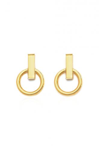 Σκουλαρίκια Χρυσά Gold Line