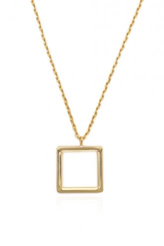 Κολιέ Χρυσό Τετράγωνο