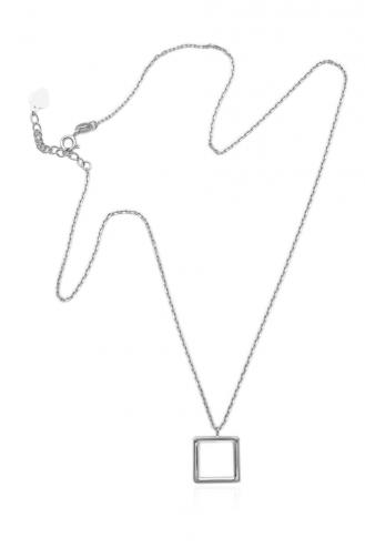 Κολιέ Λευκό Τετράγωνο