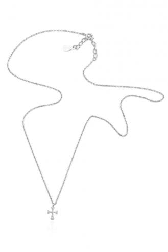 Κολιέ Λευκό Σταυρουδάκι