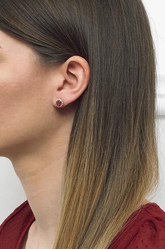 Σκουλαρίκια Ροζέτα Ρουμπίνι