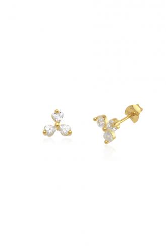 Σκουλαρίκια Gold Flower