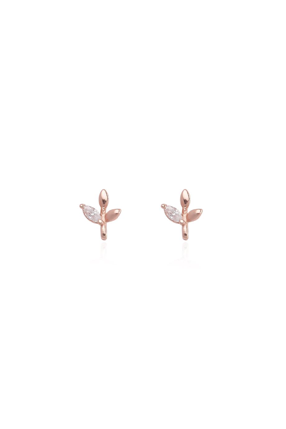 Σκουλαρίκια Rose Leaf