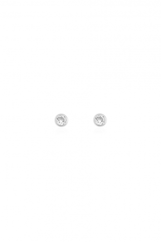Earrings One Stone Circle