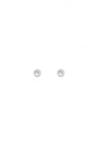 Σκουλαρίκια Μονόπετρα Circle