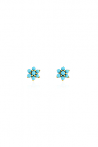 Earrings Turquoise Flower