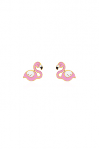 Earrings Pink Flamingo
