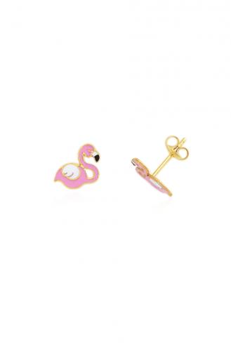 Σκουλαρίκια Ροζ Φλαμίνγκο