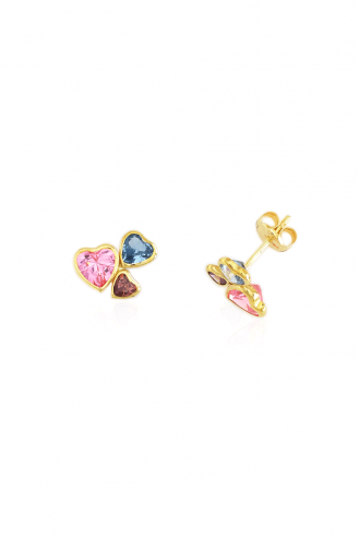 Σκουλαρίκια Triple Hearts