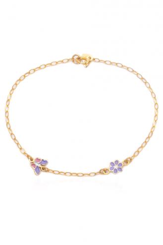 Bracelet Daisy Butterfly