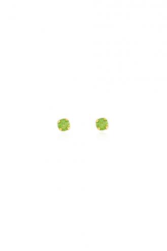 Σκουλαρίκια Green Stone