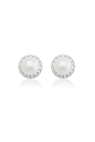 Σκουλαρίκια Special Pearl Λευκά