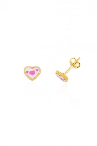 Σκουλαρίκια Ροζ Καρδιές