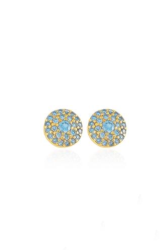 Σκουλαρίκια Big Aquamarine Dot