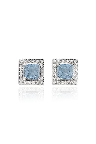 Σκουλαρίκια Blue Square