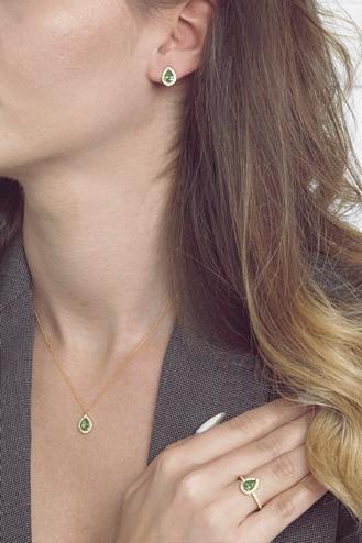 Σκουλαρίκια Green Pear