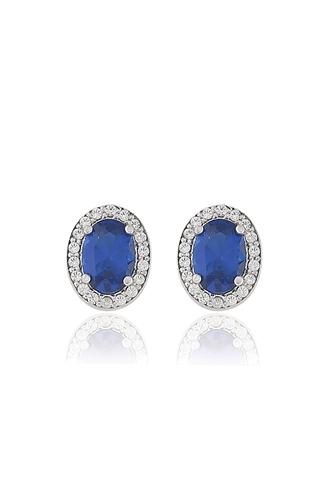 Σκουλαρίκια Oval Sapphire
