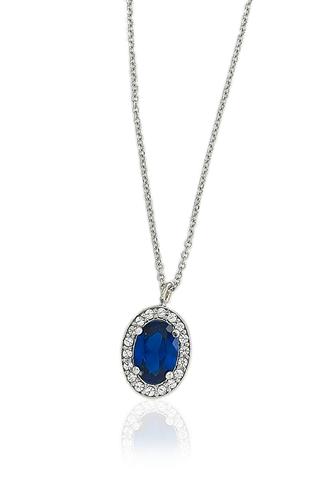 Κολιέ Oval Sapphire