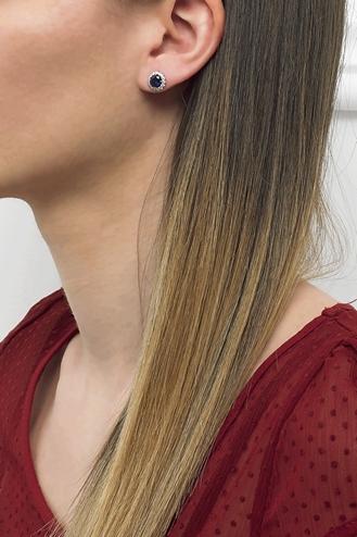 Σκουλαρίκια Ροζέτα Ζαφείρι